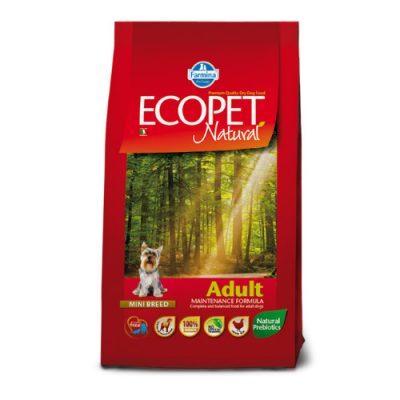 Ecopet Natural Adult Mini Breed 12 kg + 2 kg δωρο