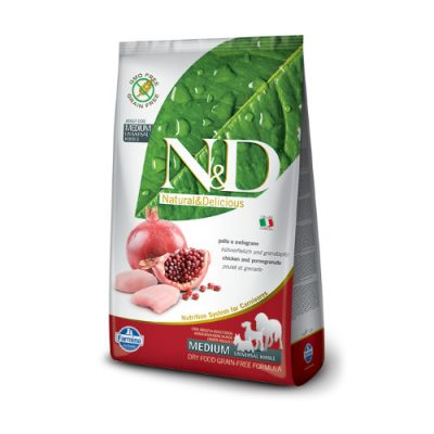 N&D Chicken & Pomegranate adult 2.5 Kg