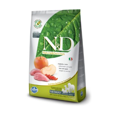 N&D Grain Free Boar & Apple Adult medium 2.5kg