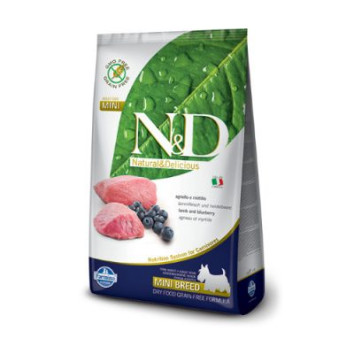 N&D Lamb & Bluberry adult mini 2.5 Kg