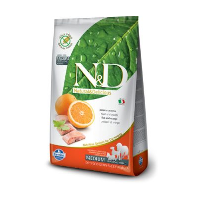 N&D Grain Free Fish & Orange Adult Medium 12 kg
