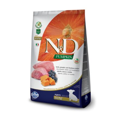 N&D Pumpkin Lamb & Blueberry puppy mini 7 Kg