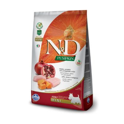 N&D Pumkin Chicken & Pomegrade adult mini ξηρη τροφη