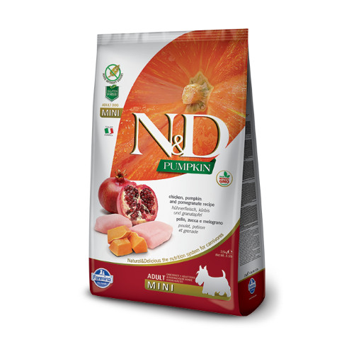 N&D Pumkin Chicken & Pomegrade adult mini ξηρη τροφη
