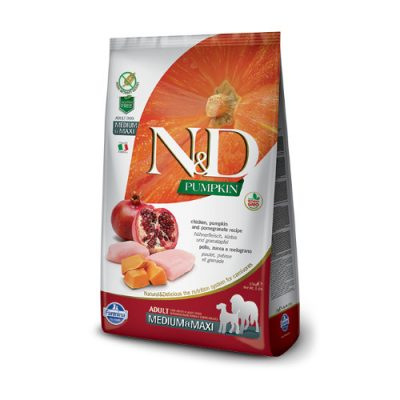 N&D Pumkin Chicken & Pomegranate adult medium/maxi 12Kg