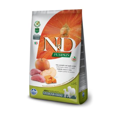 N&D Pumkin Boar & Apple adult med/max 2.5 Kg
