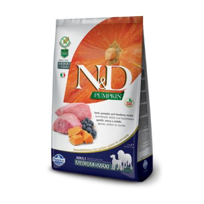 N&D Pumpkin Lamb & Blueberry adult med/max 12 Kg