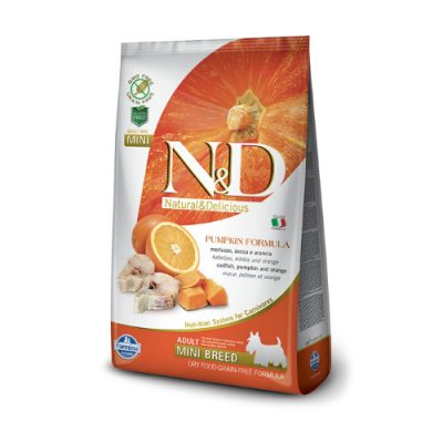 N&D pumpkin Fish & Orange adult mini 2.5 Kg