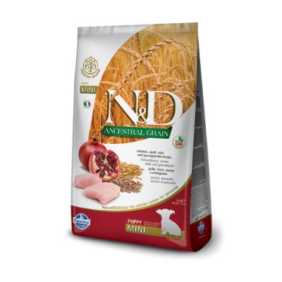 N&D Low Grain Chicken & Pomegrade puppy mini 800gr