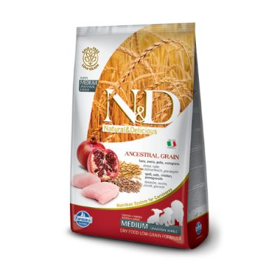 N&D Low Grain Chicken & Pomegranate pup. med 12 kg