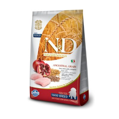 N&D Low Grain Chicken & Pomegrade puppy maxi 2,5kg