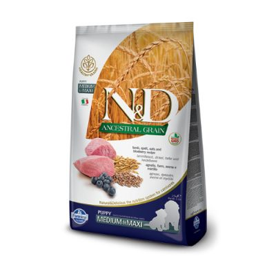 N&D Low Grain Lamb puppy med/max 12 kg