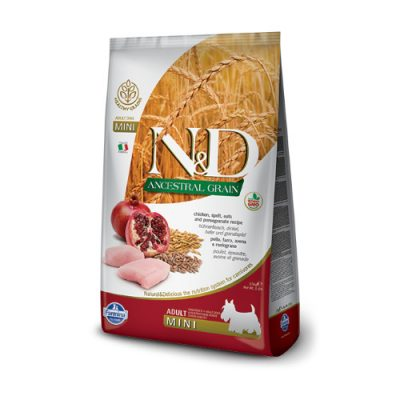 N&D Low Grain Chicken & Pomegranate adult mini 2.5kg