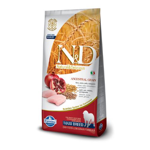 N&D Low Grain Chicken & Pomegrade adult maxi 12kg