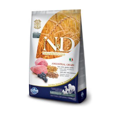 N&D Low Grain Lamb & Blueberry adult medium 2,5 kg