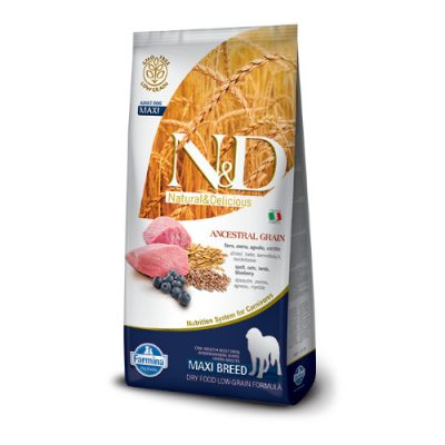 N&D Low Grain Lamb & Blueberry adult maxi 12 kg