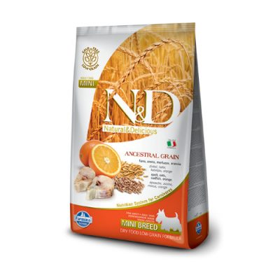 N&D Low Grain Fish & Orange adult mini 0,8 kg
