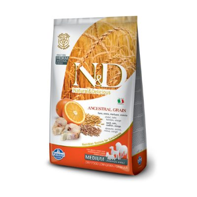 N&D Low Grain Fish & Orange adult medium 12 kg