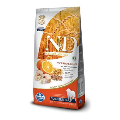 N&D Low Grain Fish & Orange adult maxi 12 kg