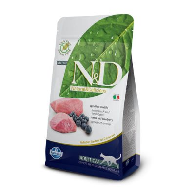N&D Lamb & Blueberry adult cat 1.5Kg