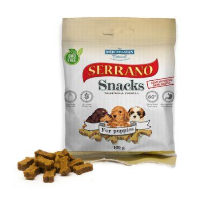 Λιχουδιές Serrano σε μικρές μπουκιές για κουτάβια 100gr