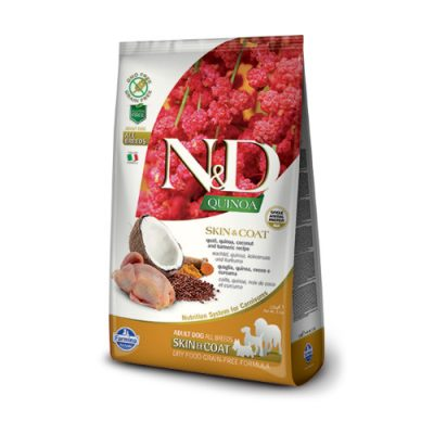 N&D QUINOA Skin & Coat Quail 7 Kg