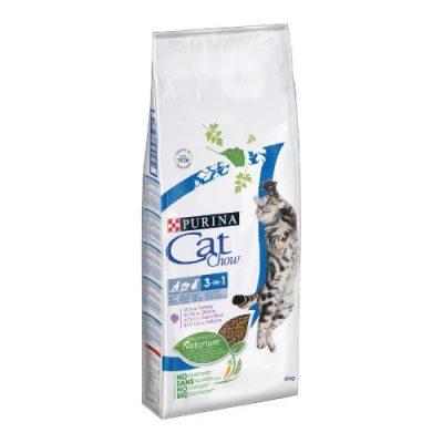 Tonus Cat Chow Feline 3In1 Γαλοπούλα 1,5 Kg