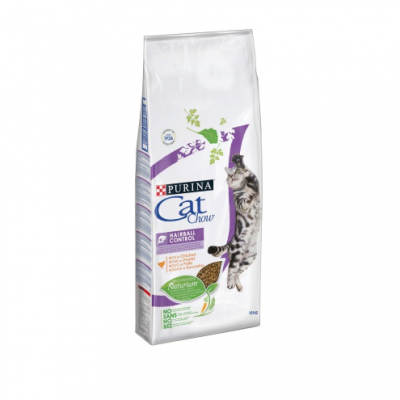 Tonus Cat Chow Hairball Control Κοτοπουλο 15Kg