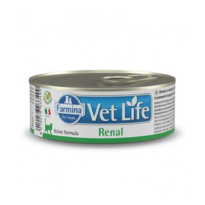 VET LIFE Renal Wet Food Feline 85gr (12τεμ)