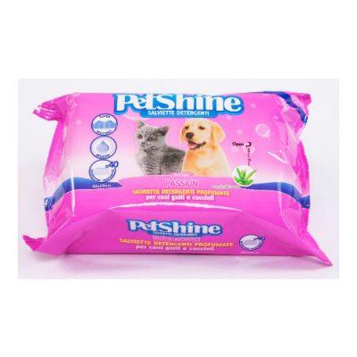 PetShine Υγρά Μαντηλάκια Καθαρισμού Passion (40 φυλλα)