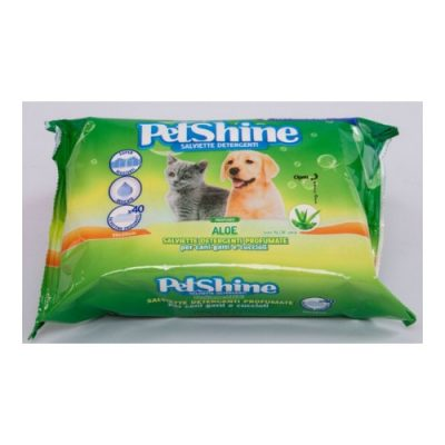 PetShine Υγρά Μαντηλάκια Καθαρισμού Aloe Vera (40 φυλλα)