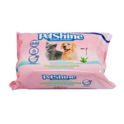 PetShine Υγρά Μαντηλάκια Καθαρισμού White Musk ( 40 φύλλα)
