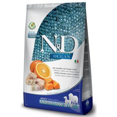N&D Pumkin Fish & Orange adult med/max 12 Kg