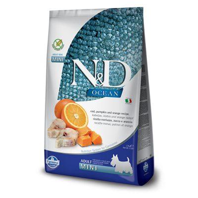 N&D pumpkin Fish & Orange adult mini 2.5 Kg
