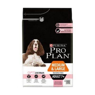 pro plan medium & large adult sensitive skin 7+  14kg