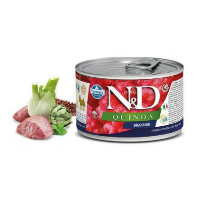 n & d QUINOA WET DIGESTION LAMB 140GR (12 τεμαχια)