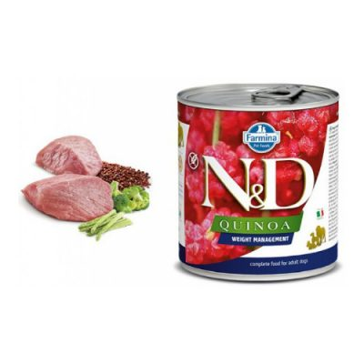 n & d QUINOA WET WEIGHT MANAGEMENT LAMB 285GR (6 τεμαχια)