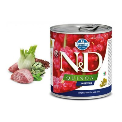 n & d QUINOA WET DIGESTION LAMB 285GR (6 τεμαχια)