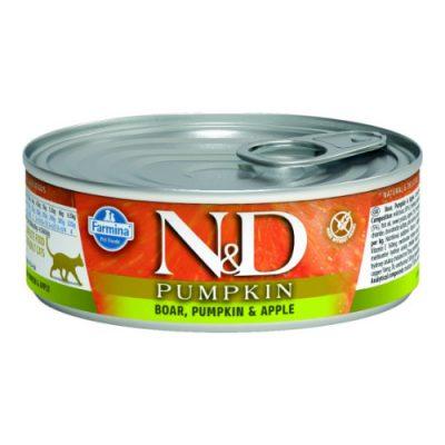 n&d PUMPKIN WET BOAR & APPLE 80GR (12τεμαχια)