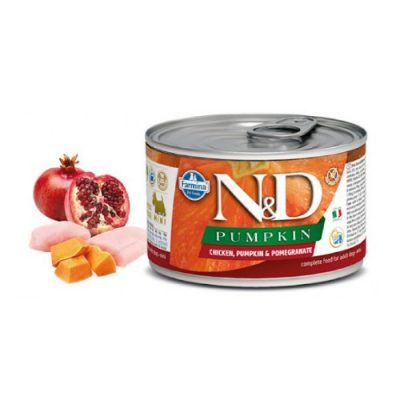 N&D PUMPKIN WET CHICKEN & POMEGRANATE 140GR (12 TEMAXIA)