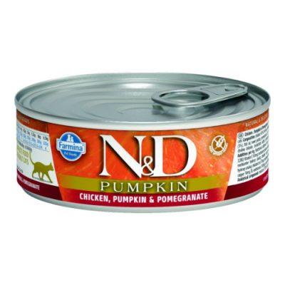 n&d PUMPKIN WET CHICKEN & POMEGRANATE 80GR (12τεμαχια)