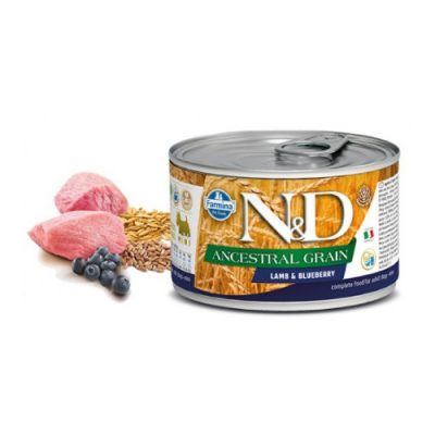 N&D LOW GRAIN WET LAMB & BLUEBERRY 140GR (12 TEMAXIA)