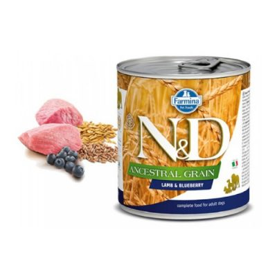 N&D LOW GRAIN WET LAMB & BLUEBERRY 285GR (6 TEMAXIA)