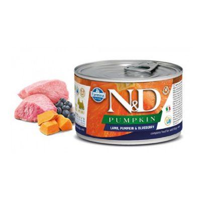 N&D PUMPKIN WET LAMB & BLUEBERRY 140GR (12TEMAXIA)