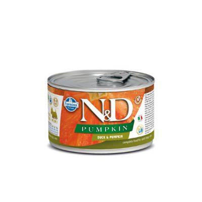 N&D PUMPKIN WET DUCK 140GR (12 TEMAXIA)