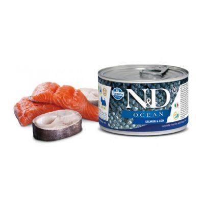 N & D OCEAN WET SALMON & CODFISH 140GR (12τεμαχια)
