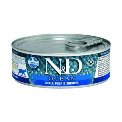 N&D Ocean Cat Wet Tuna & Shrimp 80gr (12τεμαχια)