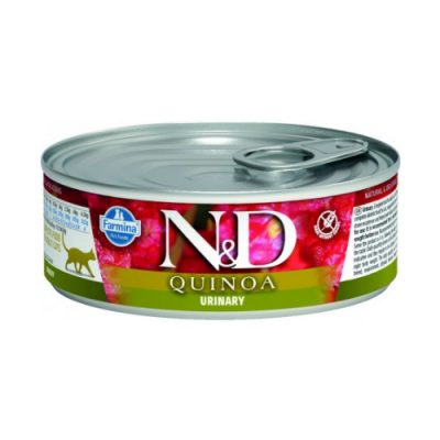 N&D Quinoa Cat Wet Skin & Coat Urinary 80gr (12τεμαχια)