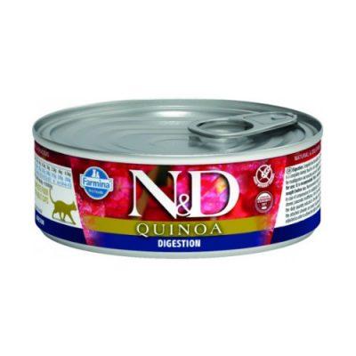 N&D Quinoa Cat Wet Skin & Coat Digestion 80gr (12τεμαχια)