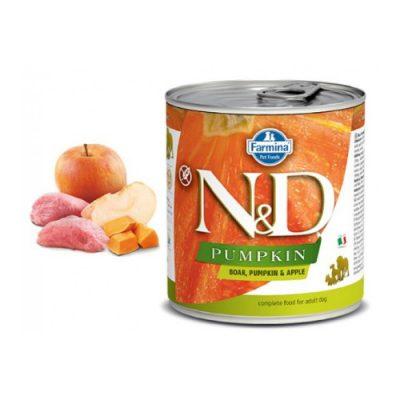 N&D PUMPKIN WET BOAR & APPLE 285GR (6 TEMAXIA)